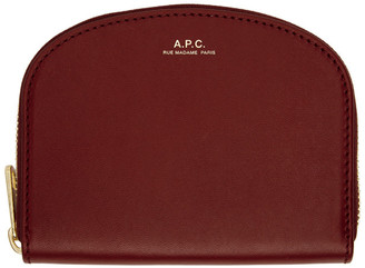 A.P.C. Red Compact Demi-Lune Wallet