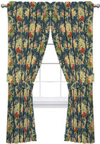 Waverly Sanctuary Rose Rod-Pocket Curtain Panel