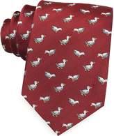 Marina D'Este White Duck Woven Silk Tie