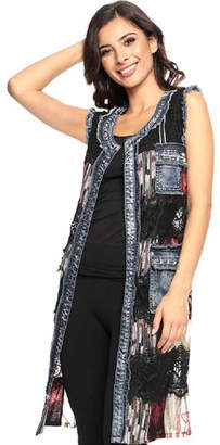Adore Lace Denim Vest