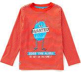 Joules Little Boys 3-6 Striped Alien Screen Print Top