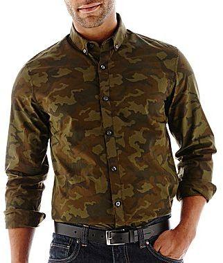 Camo JF J. Ferrar Woven Shirt