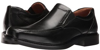 Johnston & Murphy Tabor Casual Dress Slip-On (Black Calfskin) Men's Slip-on Dress Shoes