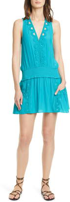 Ramy Brook Madeline Lace Detail Sleeveless Minidress