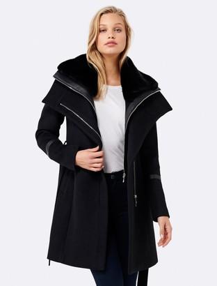 Forever New Gabriella wrap coat - Black - 4