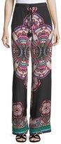 Roberto Cavalli Drawstring Printed Silk Pants