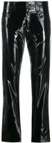 No.21 vinyl-effect slim-fit trousers