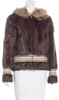 Tory Burch Fur Hooded Jacket