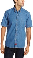 Dickies Men's Big-Tall Short-Sleeve Denim Work Shirt