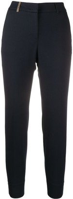 Peserico Slim-Fit High Waisted Trousers