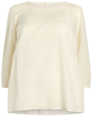 Marina Rinaldi Muslin Cotton-Blend Tunic