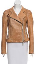 Emporio Armani Embossed Leather Moto Jacket