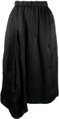 Comme des Garçons Comme des Garçons Asymmetric Draped Midi Skirt