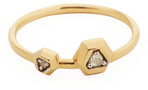 Maiyet 18K Yellow Gold & 0.04 Total Ct. Diamond Constellation Double Ring
