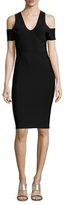 BCBGMAXAZRIA Cold Shoulder Sheath Dress
