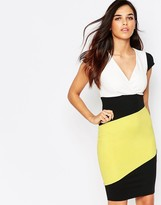 Jessica Wright Briony Color Block Pencil Dress