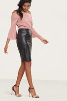 Dynamite Faux Leather Pencil Skirt