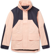 Acne Studios - Panelled Shell And Cotton-twill Hooded Jacket