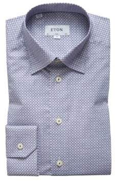 Eton Slim Fit Micro Print Dress Shirt