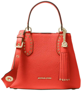 MICHAEL Michael Kors Brooklyn Pebbled Leather Satchel