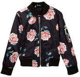 Urban Republic Black Rose Printed Bomber Jacket (Toddler & Little Girls)