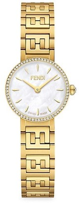 Fendi Timepieces Yellow Goldtone Stainless Steel Bracelet Watch