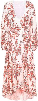 Borgo de Nor Floral-print Crepe De Chine Midi Dress