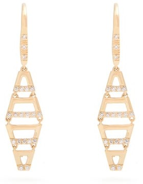 Susan Foster Diamond & 18kt Gold Earrings - Gold
