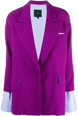 Jejia Layered Wool Blazer