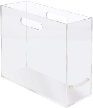 Pottery Barn Acrylic Slim File Box