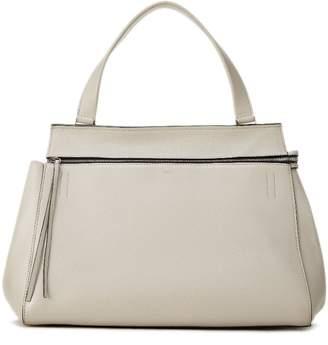 Celine Light Grey Leather Edge Tote Medium