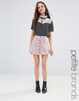 Glamorous Petite Button Up Cord A Line Skirt