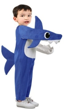 BuySeasons Baby Shark Big and Toddler Girl and Boy Chompin' Baby Shark Costume with Sound Chip