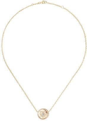 Kiki McDonough 18kt yellow gold Jemima blue topaz and diamond necklace