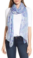 Echo Women's Painted Tile Silk Scarf