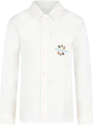 Gucci White Shirt For Boy With Logo
