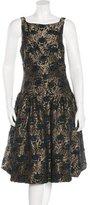 Rochas Jacquard Midi Dress w/ Tags
