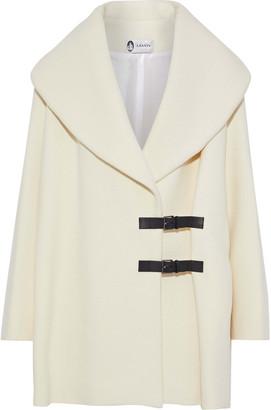 Lanvin Buckled Leather-trimmed Wool-felt Coat