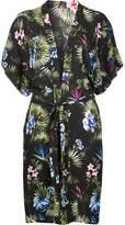 Fleur Du Mal short sleeve robe - women - Silk/Spandex/Elastane - S/M