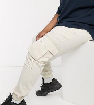 ASOS DESIGN Plus cargo pants in skater fit in beige