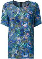 Romance Was Born x Ultra Violet mosaic print T-shirt - women - Silk - 6