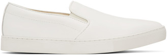 Comme des Garçons Homme White Leather Steer Sneakers