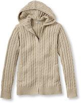 L.L. Bean Women's Double L Cotton Sweater, Zip-Front Hoodie