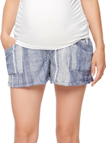 A Pea in the Pod Secret Fit Belly Striped Maternity Shorts