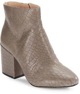 French Connection Dilyla Embossed Leather Ankle Boots