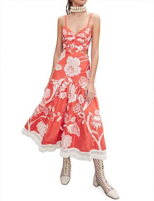 Alexis Narella Embroidered Dress