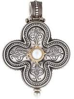 Konstantino Pearl Filigree Cross Pendant