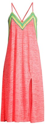 Pitusa Neon Embroidered Cover-Up Dress