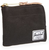 Herschel Women's 'Johnny' Half Zip Wallet - Black