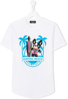 DSQUARED2 Surfing Beach T-shirt - kids - Cotton - 14 yrs